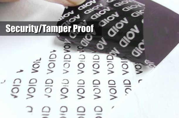 Security and Tamper Evident Labels