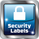 Security and tamper proof labels Icon