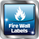 Fire Wall & Fire Extinguisher Labels Icon
