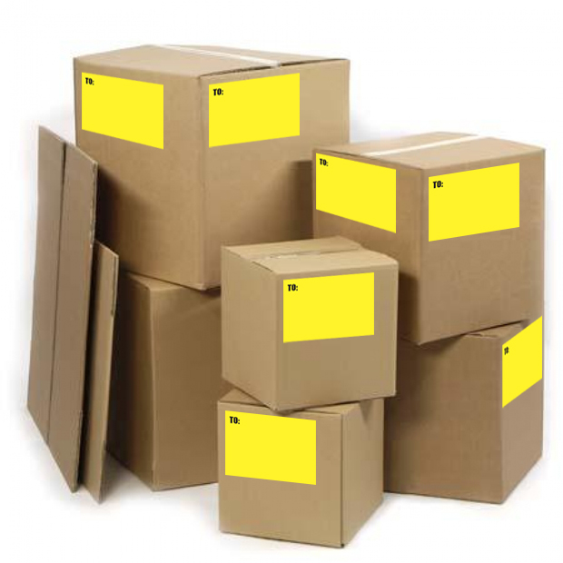 Media Library - Trade Cardboard Box