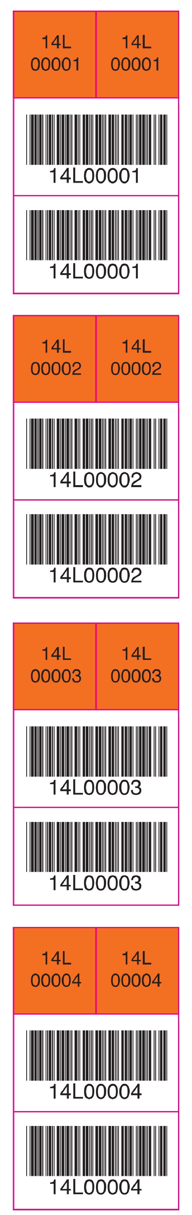 Media Library - Barcode sample 1