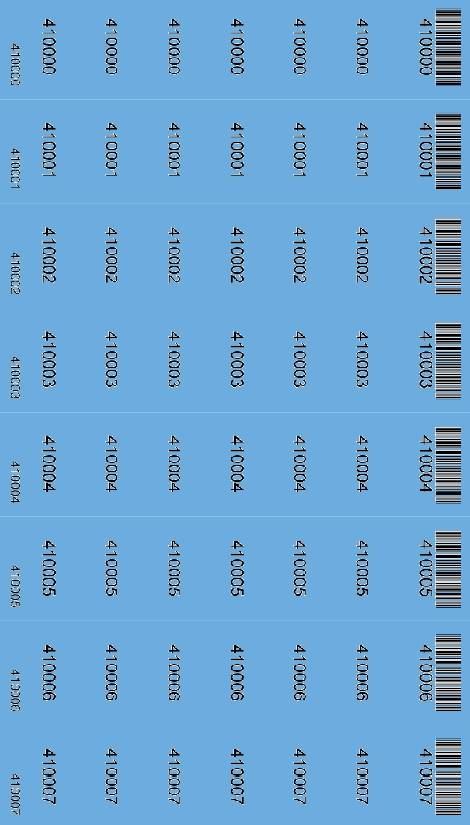Media Library - Barcodes and numbers